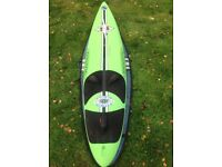 Fanatic windsurfing equipment; various boards, sails and masts