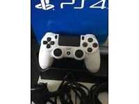 PS4 500GB Glacier White superb condition, black stand and three games.