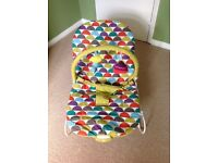 Baby bouncer, mobile, playmat and play ring