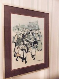 Large Picture - The Ice Cream Seller - Margaret Chapman * REDUCED*