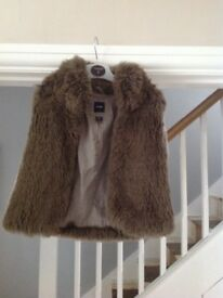 Girl's faux fur gilet from Baby Gap - age 5 years
