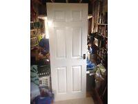 Internal White Pannelled Door