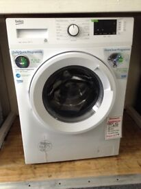 Beko 8kg 1400 spin washing machine. White. 12 month Gtee