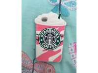 Brand new iPhone 4s case. Pink and white Starbucks .