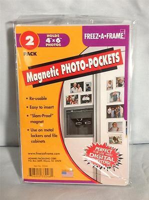 Bulk Sale12-Freez-A-Frame 4 x 6 Magnetic Photo Pockets f/fri