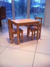 Lovely children's wooden table and chairs set