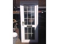 White Georgian bar door