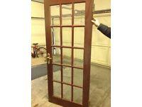 Internal doors, walnut wood frame