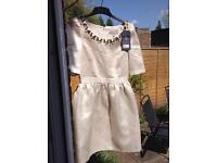 Jack Wills brand new cream dress