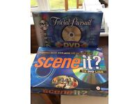 REDUCED Two boxed games with dvds trivial pursuits and scene it