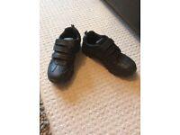 Boys black shoes size 1 excellent condition