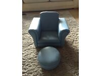 Kids chair, footstool
