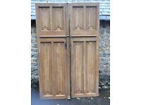 Beautiful huge French linenfold doors