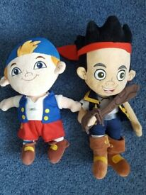 Disney Jake & the Neverland Pirates, Jake & Cubby Soft Toys