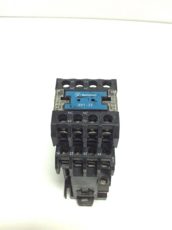 WESTINGHOUSE CONTACT BLOCK SV1-22