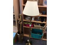 Floor standing swivel lamp gold colour #44601 £25