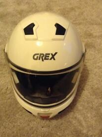 GREX Motorbike Helmet Size XL used only twice