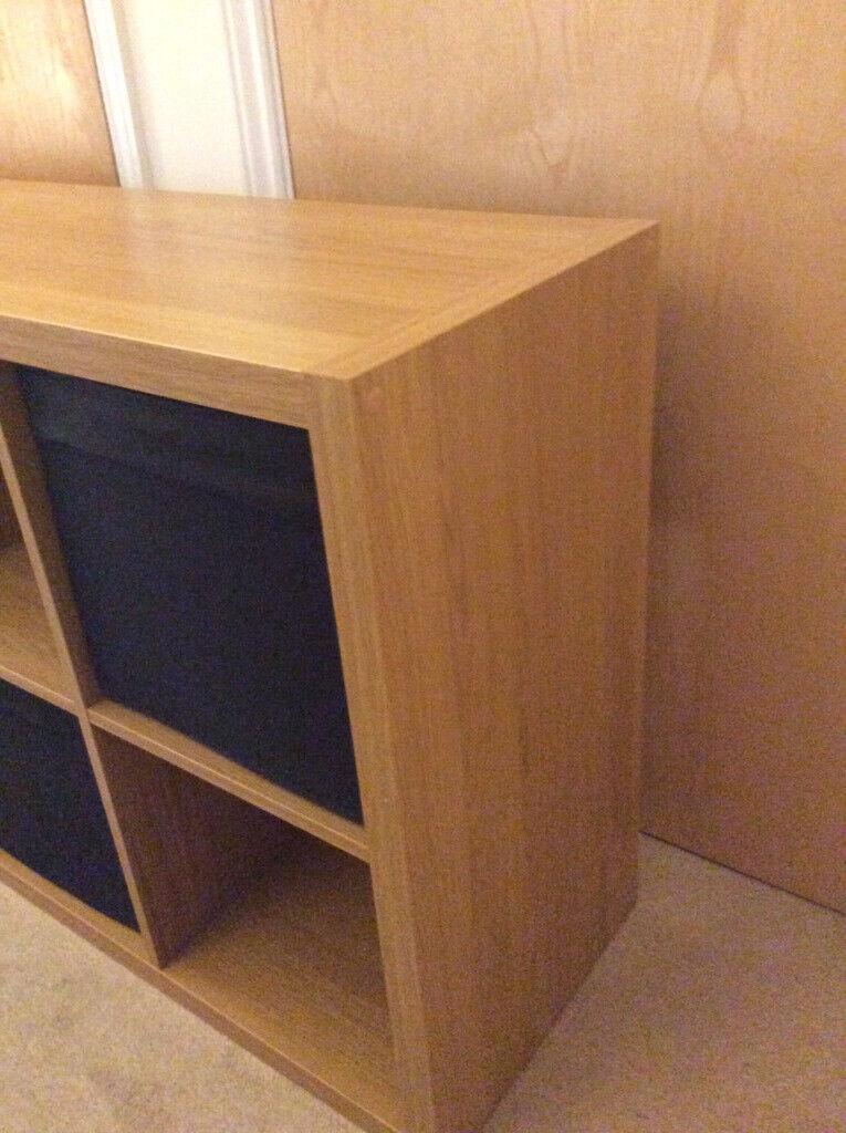 Ikea Kallax Shelving/Storage Unit Pine Cube Storage 8 Square with storage  boxes  | in Redhill, Surrey | Gumtree