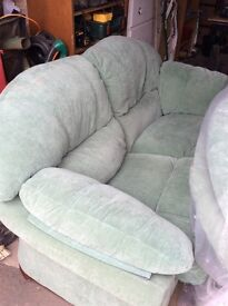 2seater & 3seater pale green settee FREE