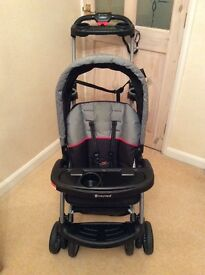 Sit and stand double pushchair