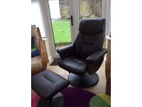 Modern Comfortable chair with footstool and massage facility