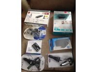 Job lot, webcam, network adapter, multi card reader, Chargers