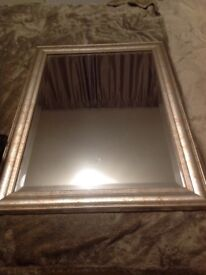 Lovely cream marble effect mirror