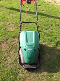 Qualcast flymo mower with grass bin electric