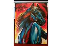 Stunning Original Acrylic painting of a horse