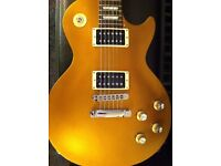 Goldtop Gibson Les Paul Studio - Locking Tuners, Slim Neck, Easy High Fret Access, Light Weight