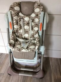 Chicco high chair £65.00 excellent condition only used for the grandkids