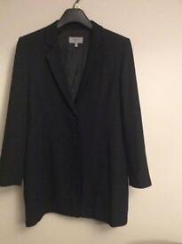 Ladies Long Black Jacket