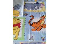 Winnie the Pooh single quilt cover for single bed.