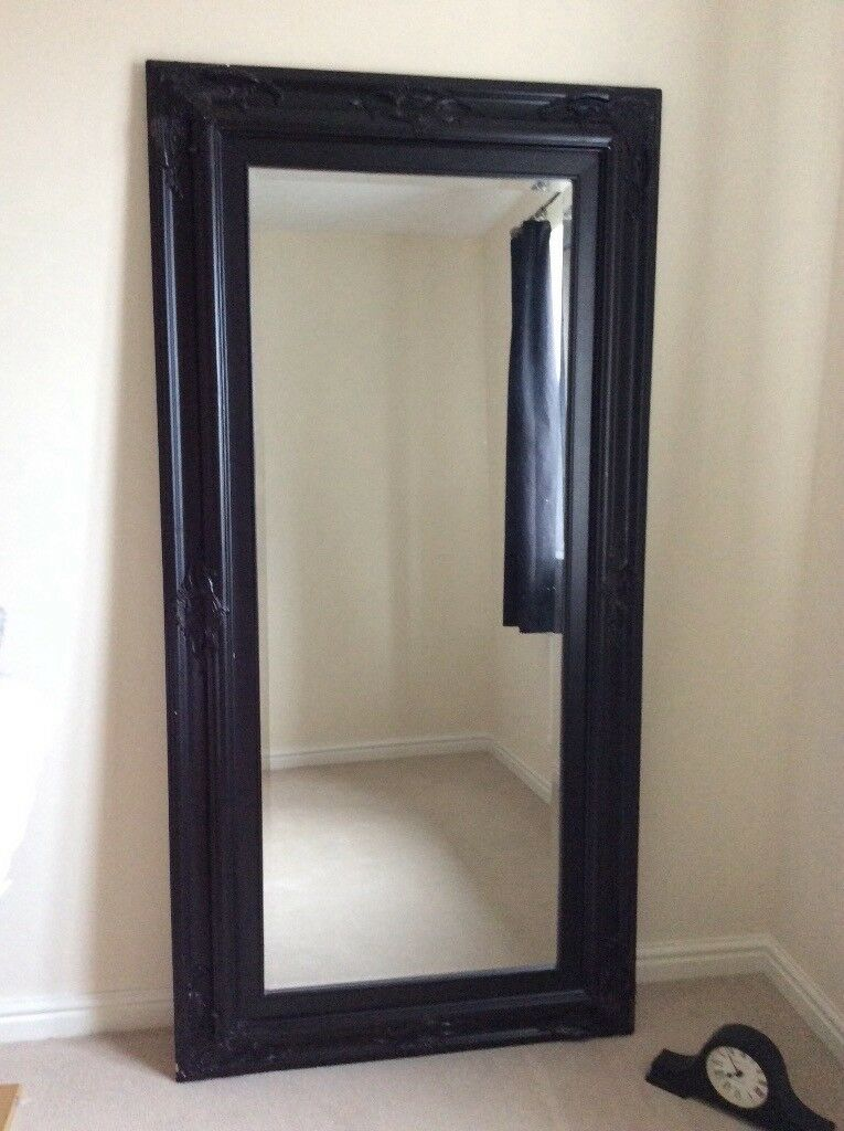 Black dress mirror