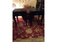 2 Bedside Tables & 1 Chair Black