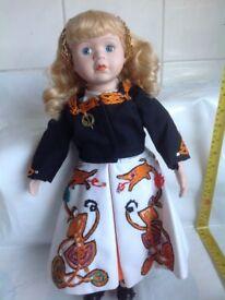 Irish Dancer Doll - porcelain doll - (f2)