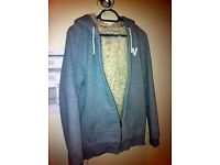 Jack Wills hoodie (jacket) grey with faux fur lining