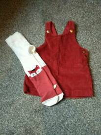 Dress and tights 3-6 months