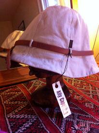 Ally Capellino Hat (Cream Leather)