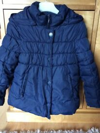Girls Benetton winter coat age 4-5 approx