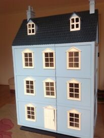 Wooden four storey doll's house and quality accessories - collector's item or toy
