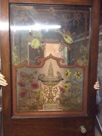 Decorative Mahogany Antique half glass Door