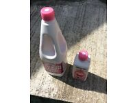Thetford Flush Rinse tank additive, 1.5 & 0.5 litre bottles New, unused.
