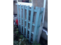 Wooden Pallet, free to collect, painted green