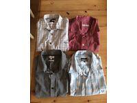L/XL(17 inch) 4 men's shirts.