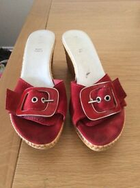 Two pairs of low wedge shoes size 6- from