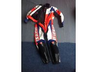 Leather motor bike suit , jacket and trousers, DAINESE /44. Great Condition. No rips on leather.