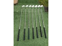 Wilson '1200' Golf Clubs, Irons numbers 3 to 9, 1200 Pitching Wedge