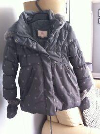 Girls grey winter coat
