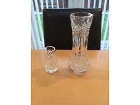 "Tyrone Crystal Vases 9"" + 4 """